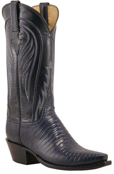 Navy Blue Lucchese Boots