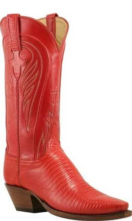 Lucchese L4119 Red Lizard Womens Classics Boots