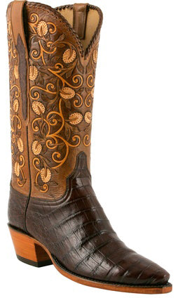 Lucchese L4133 Sienna Ultra Belly Caiman Crocodile Womens Classics Boots