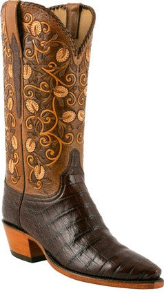 Lucchese Classics L4133 Sienna Ultra Belly Caiman Crocodile Womens Boots