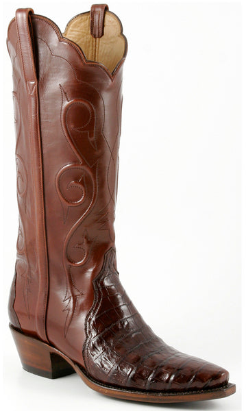 Lucchese L4134 Sienna Ultra Belly Caiman Crocodile Womens Classics Boots
