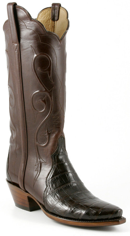 Lucchese Classics L4135 Womens Chocolate Crocodile Belly Boots ...