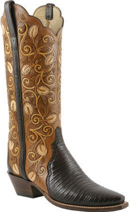 Lucchese Classics L4139 Cigar Brown Lizard Womens Boots