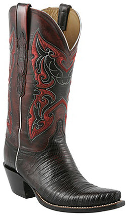 Lucchese L4140 Black Cherry Lizard Womens Classics Boots