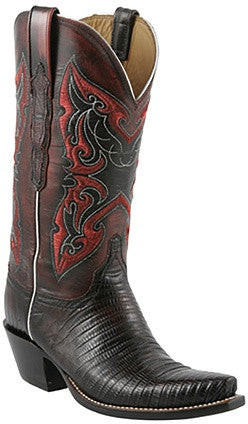 Lucchese Classics L4140 Black Cherry Lizard Womens Boots