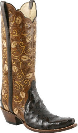Lucchese Classics L4142 Nicotine Full Quill Ostrich Womens Boots