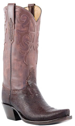 Lucchese Classics L4151 Coffee Shaved Stingray Womens Boots