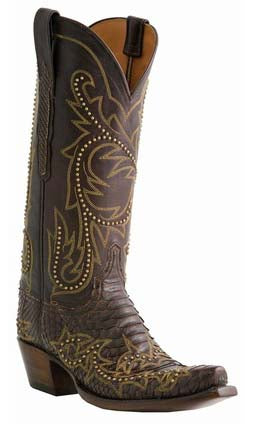 Lucchese L4159 Chocolate Python Womens Classics Boots