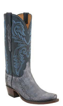 Lucchese L4166 Womens Slate Belly Python Classics Boots