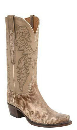 Lucchese Classics L4167 Womens Khaki Belly Python Boots
