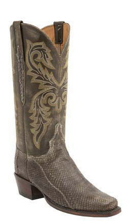 Lucchese L4168 Womens Olive Belly Python Classics Boots