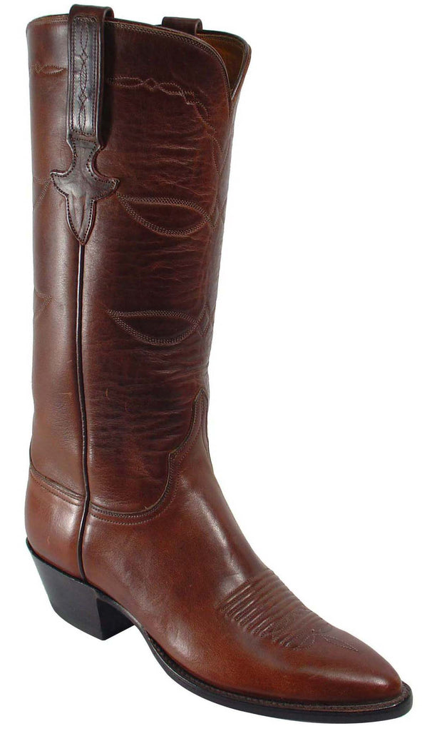 Lucchese Classics L4524 Womens Chocolate Oil Calfskin Boot