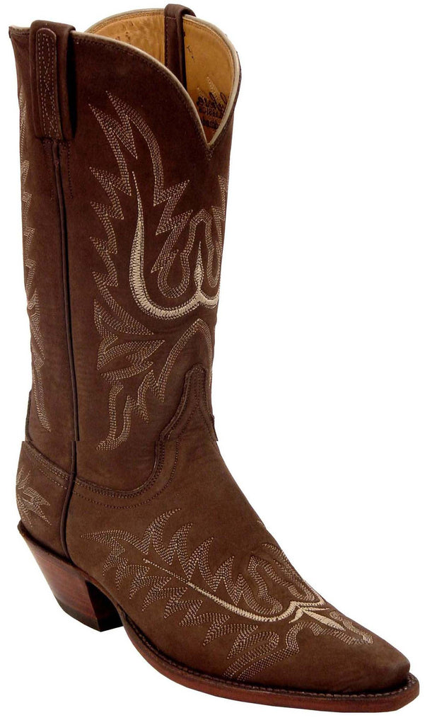 Lucchese Classics L4554 Womens Chocolate Suede Cowboy Boot