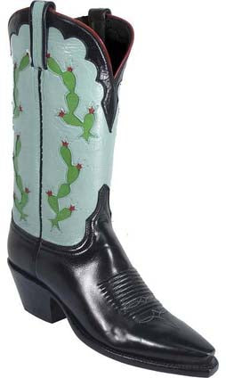 Lucchese Classics L4586 Black Buffalo Womens Boots
