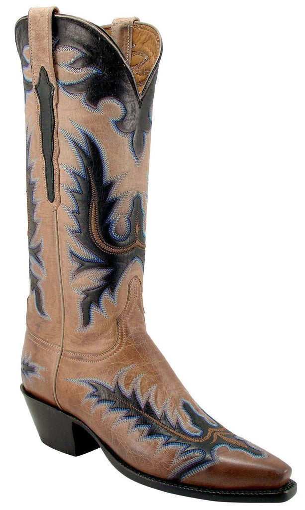 Lucchese Classics L4592 Womens Pearl Bone Burnished Mad Dog Goat Boot
