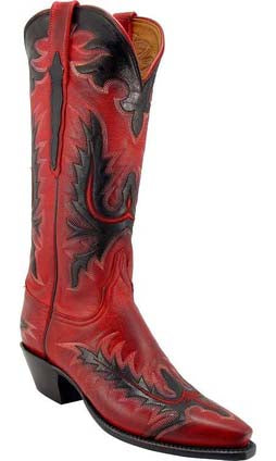 Lucchese Classics L4594 Red Mad Dog Goat Womens Boots