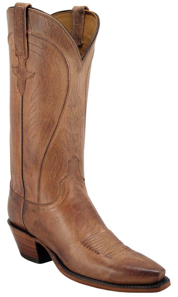 Lucchese L4609 Womens Tan Mad Dog Goat Boots