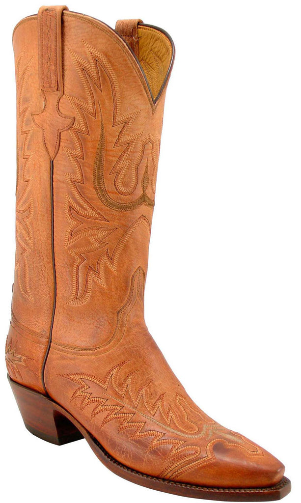 Lucchese Classics L4611 Womens Tan Burnished Mad Dog Goat Boot