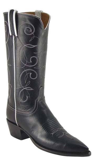 Lucchese Classics L4622 Womens Black Buffalo Cowboy Boot
