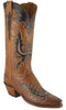 Lucchese Classics L4624 Womens Honey Burnished Ranch Hand Calfskin Boot