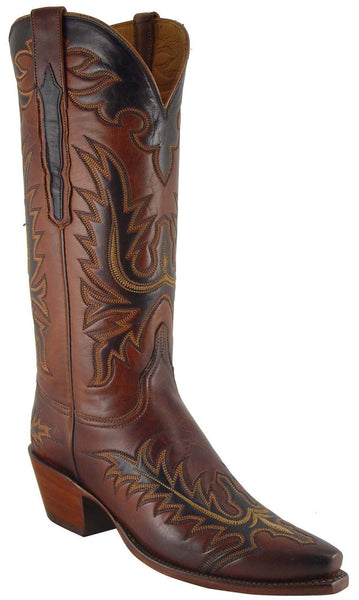 Lucchese L4625 Womens Tan Burnished Ranch Hand Calfskin Classics Boots
