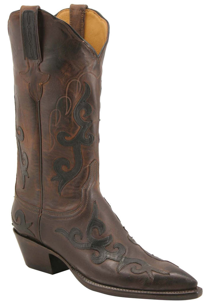 Lucchese Classics L4627 Womens Chocolate Burnished Mad Dog Goat Boot