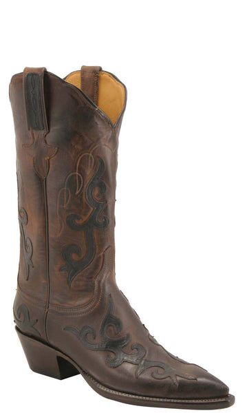 Lucchese L4627 Womens Chocolate Burnished Mad Dog Goat Boots