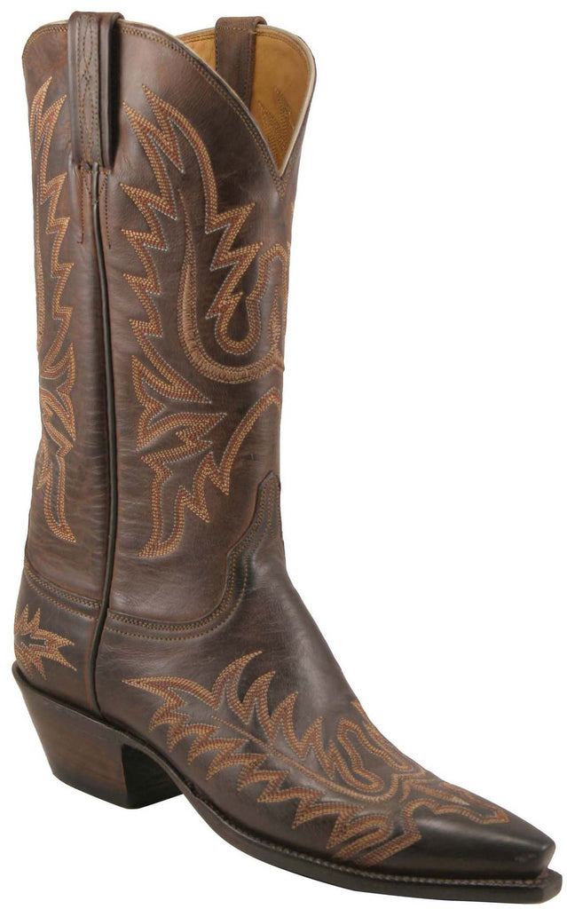 Lucchese Classics L4633 Womens Chocolate Mad Dog Goat Boot