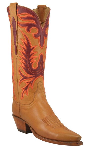 Lucchese L4649 Womens Honey Ranch Hand Calfskin Boots
