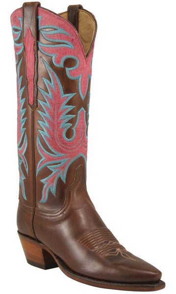 Lucchese L4650 Womens Chocolate Oil Calfskin Boots