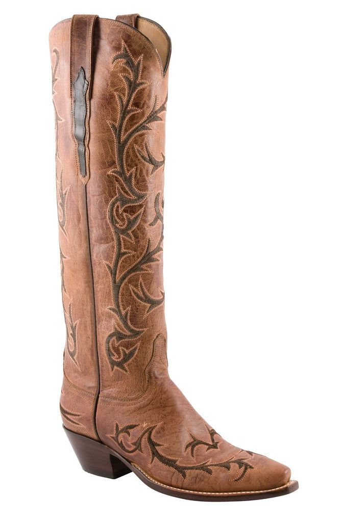 "Lucchese Classics L4675 Womens Peanut Brittle Burnished Mad Dog Goat (17"") Boot"