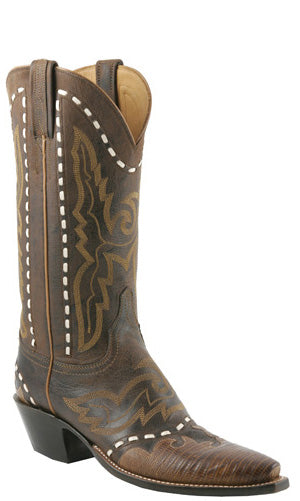 Lucchese L4679 Womens Chocolate Burnished Mad Dog Goat Boots