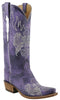 Lucchese Classics L4689 Womens Destroyed Purple Ruffle Goat Boot