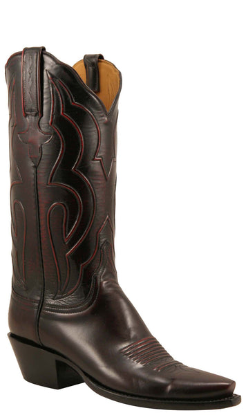 Lucchese Classics L4700 Womens Black Cherry Brush Off Kangaroo Boots