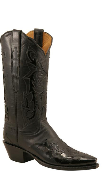 Lucchese Classics L4702.54 Womens Black Baby Buffalo Boot Size 10.5 B STALL STOCK