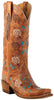 Lucchese Classics L4715.S54 Womens Destroyed Pearwood Tan Goat Boot