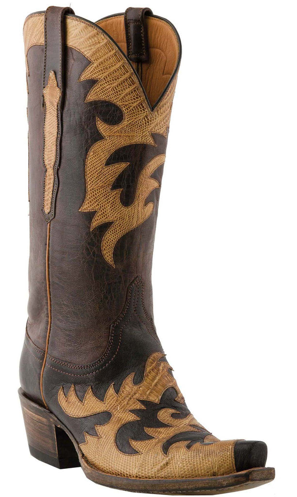 Lucchese Classics L4720 Womens Chocolate Burnished Mad Dog Goat Boot