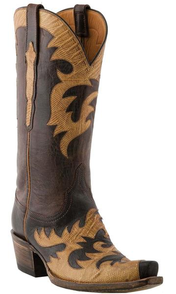 Lucchese Classics L4720.S54 Womens Chocolate Burnished Mad Dog Goat Boots