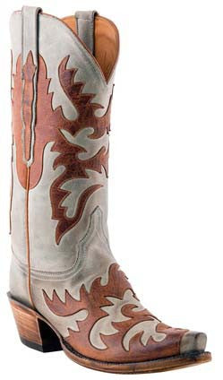 Lucchese Classics L4721 Womens Sky Blue Burnished Mad Dog Goat Boots