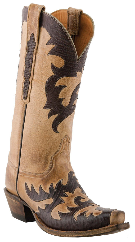 Lucchese Classics L4723.S54 Womens Pearl Mad Dog Goat Boot