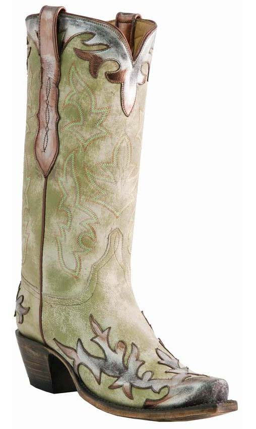 Lucchese Classics L4739.S54 Womens Destroyed Goat Boots