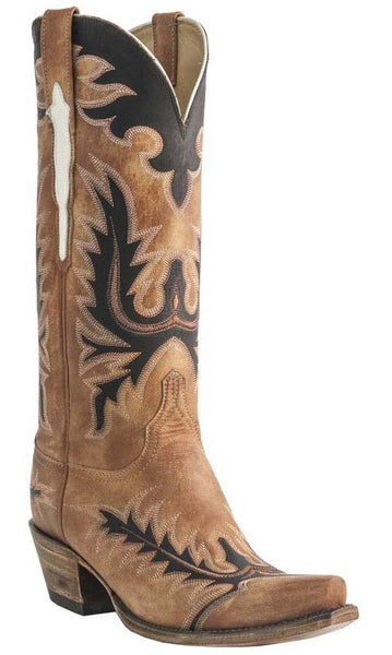 Lucchese L4741 Destroyed Pearwood Tan Goat Womens Classics Boots