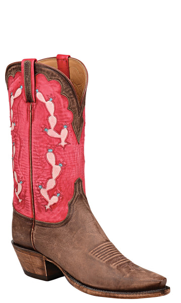 Lucchese L4757 Destroyed Antique Brown Goat Womens Classics Boots