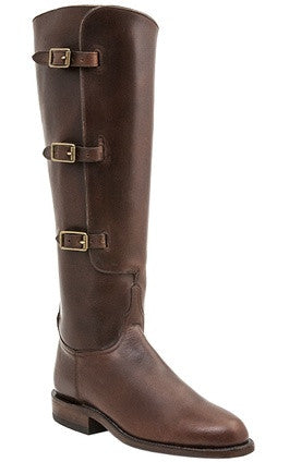 Lucchese Polo L4998 Womens Polo Lieutenant Chocolate Oil Calfskin Knee Boots
