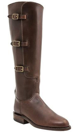 Lucchese Polo L4998 Womens Polo Lieutenant Chocolate Oil Calfskin Knee Classics Boots
