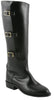 Lucchese Classics L4999 Womens Polo Lieutenant Black Oil Calf Knee Boots