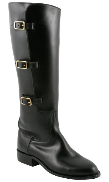 Lucchese Polo L4999 Womens Polo Lieutenant Black Oil Calfskin Knee Classics Boots