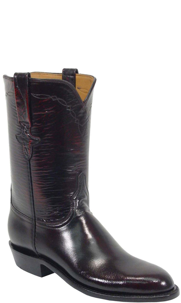 Lucchese Classics L5505 Womens Black Cherry Goat Roper Boot
