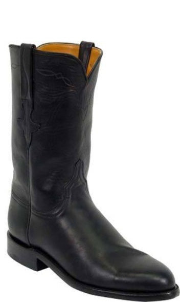 Lucchese Classics L5512 Womens Black Ranch Hand Calfskin Boot
