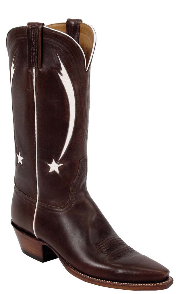 Lucchese L7000 Womens Vintage Chocolate Oil Calfskin Cowboy Boots